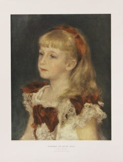 Portrait De Jeune Fille-Poster. Printed in Italy.