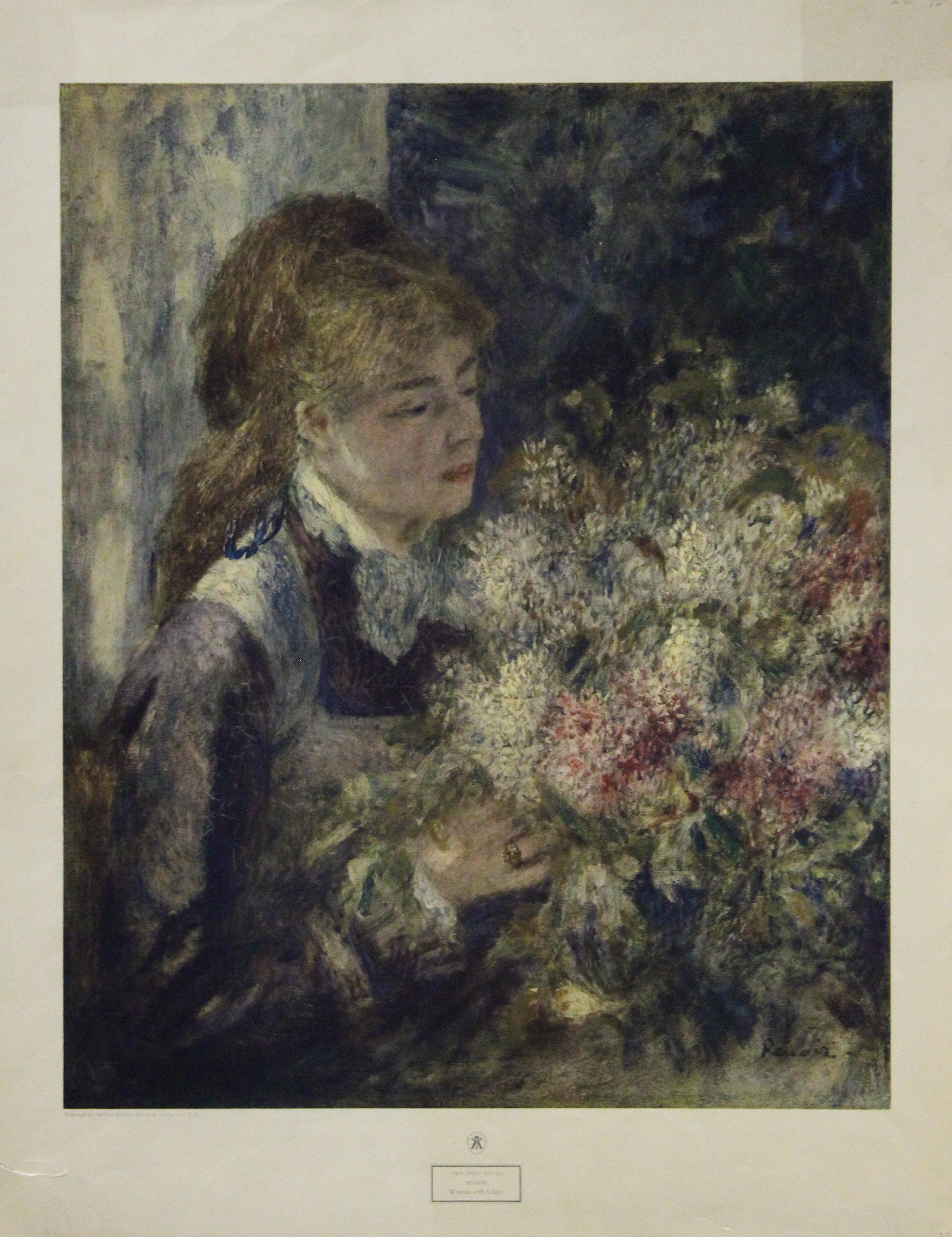 Woman with Lilacs-Vintage Poster. Twin-Print No. 103