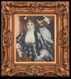 Impressionism Oil Painting LA LOGE After Pierre-Auguste Renoir