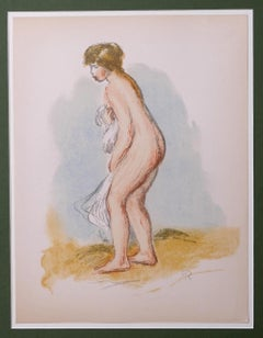 Baigneuse Debout, en Pied (Standing Bather) - Original Lithograph after Renoir