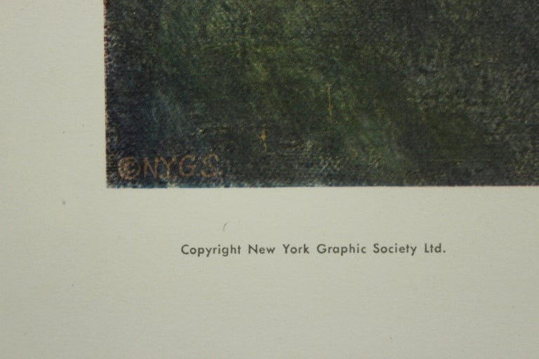 Child In White-Poster. New York Graphic Society.  - Beige Portrait Print by Pierre-Auguste Renoir