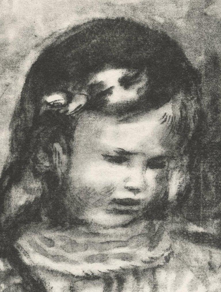 Claude Renoir, la Tete Baisee (Claude Renoir, Head Lowered) - Print by Pierre-Auguste Renoir