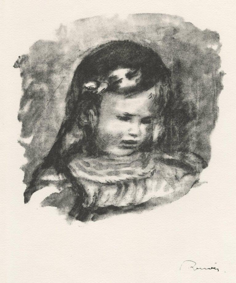 Pierre-Auguste Renoir Figurative Print - Claude Renoir, la Tete Baisee (Claude Renoir, Head Lowered)