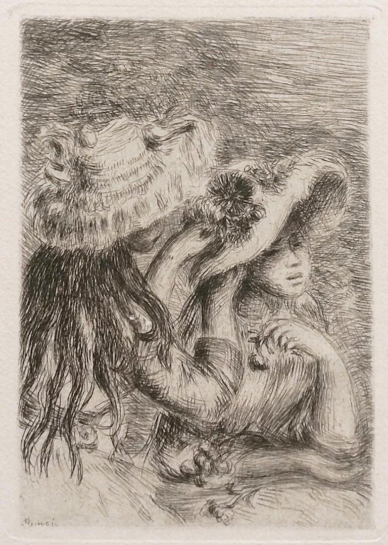 Pierre-Auguste Renoir Portrait Print - LE CHAPEAU EPINGLE