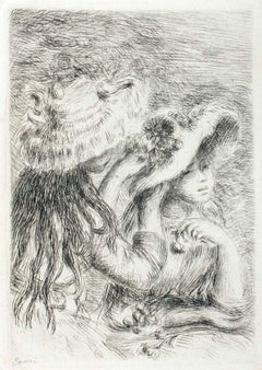 Le Chapeau épinglé (La fille de Berthe Morisot et sa cousine) - Etching  1904