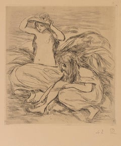 """Les Deux Baigneuses (The Two Bathers),"" Etching by Pierre-Auguste Renoir"