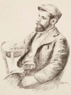 """Pierre-Auguste Renoir (1841-1919) """"Louis Valtat"""" Lithograph, circa 1904"""
