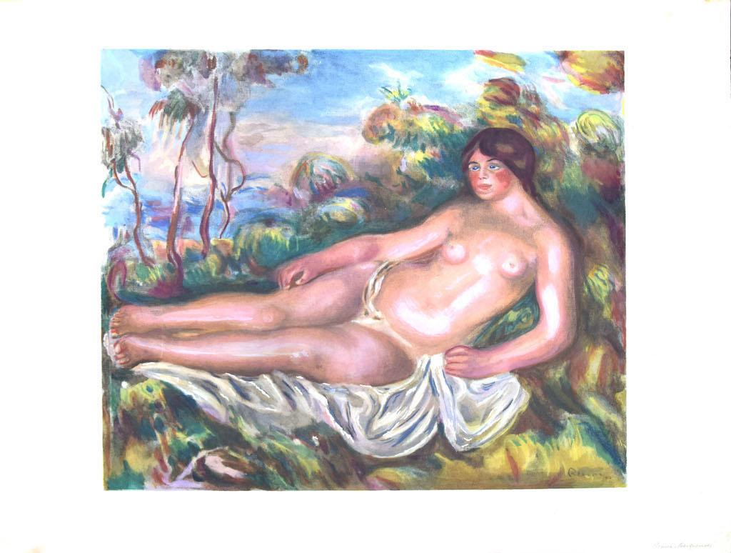 Nude Woman - Vintage Offset Poster after P. A. Renoir - Mid-20th Century