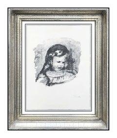 PIerre Auguste Renoir Original Lithograph Claude Portrait La Tete Signed Artwork