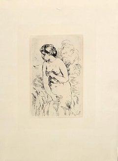 Standing Swimmer - Drypoint 1910
