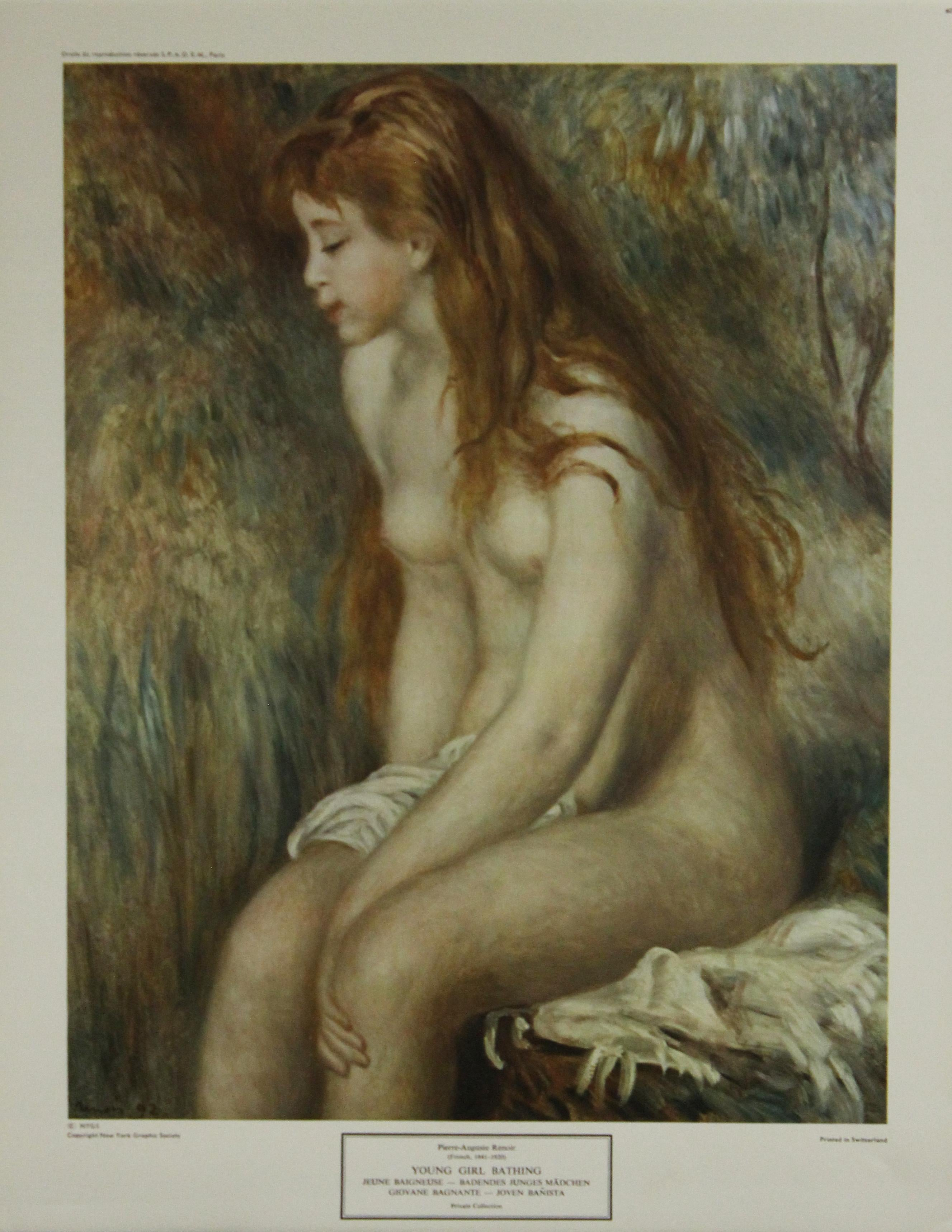 Young Girl Bathing-Poster. New York Graphic Society. Printed in Switzerland