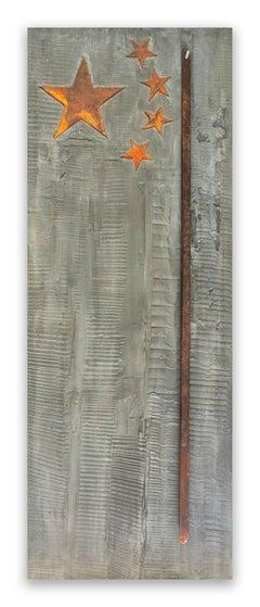Stars & Sticks (Abstract painting)