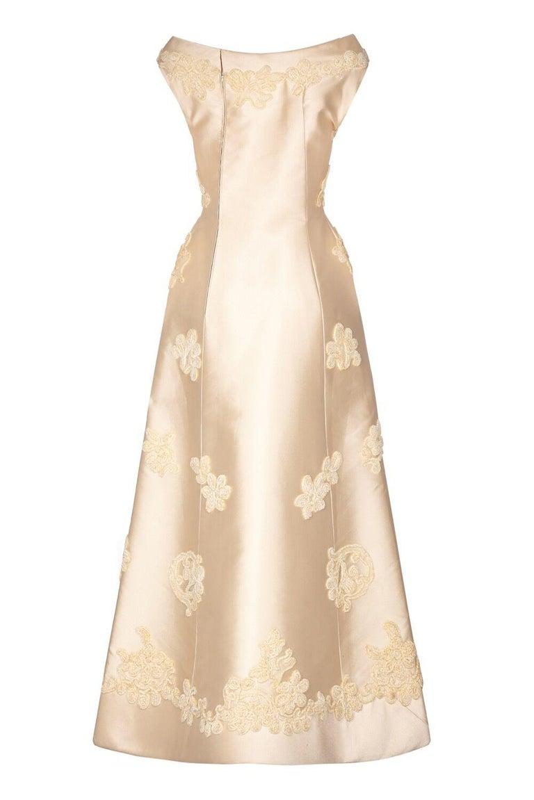 Linen Wedding Dress.Pierre Balmain 1960s Haute Couture Ivory Silk Linen Bridal Dress Suit
