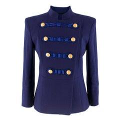 Pierre Balmain Blue Military Jacket XS