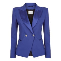 Pierre Balmain Blue Tuxedo Jacket - Size US 8