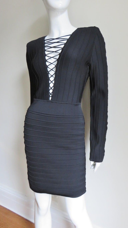 Pierre Balmain New Lace Up Bandage Dress For Sale 4