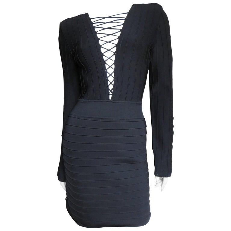 Pierre Balmain New Lace Up Bandage Dress For Sale