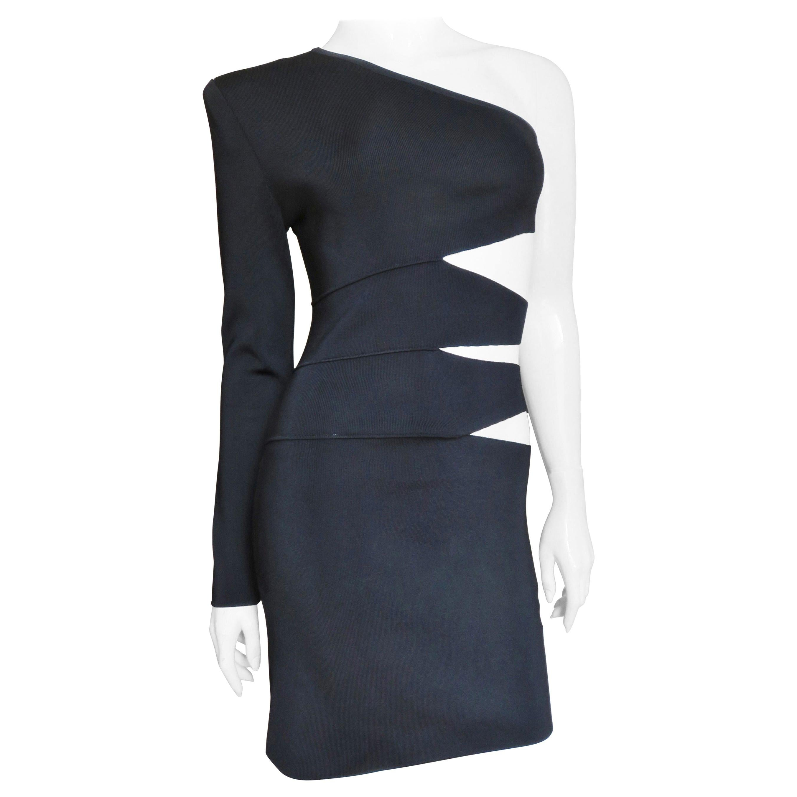 Pierre Balmain One Sleeve Dress with Cut outs