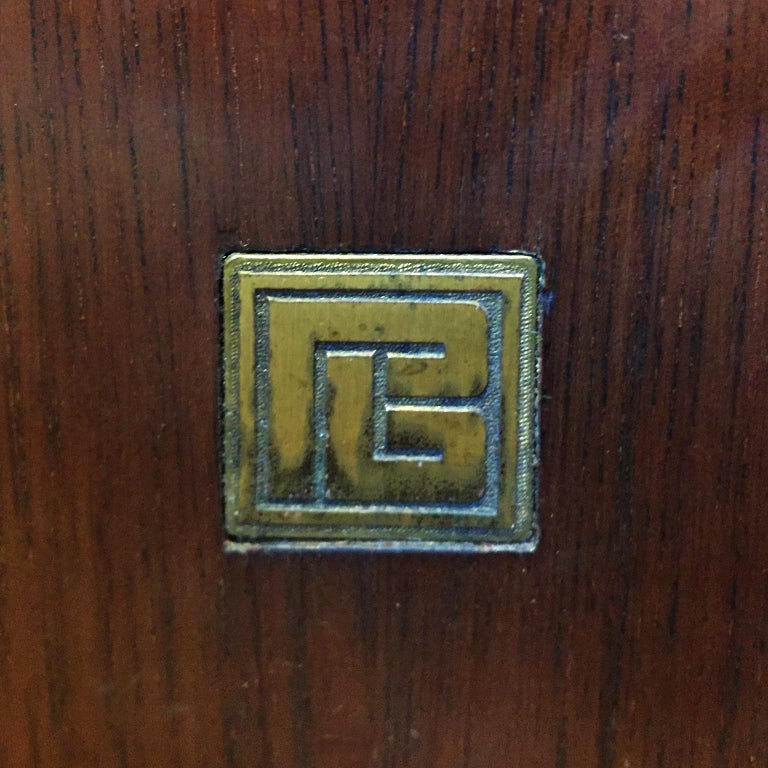 Wood Pierre Balmain Original French Secretaire with Flap, 1980.  For Sale