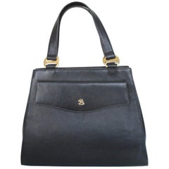 "Pierre Balmain Paris Black Calfskin ""Kelly"" style Bag Rare"