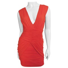 Pierre Balmain Plunge Ruched Dress