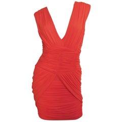 Pierre Balmain Plunge Ruched Dress