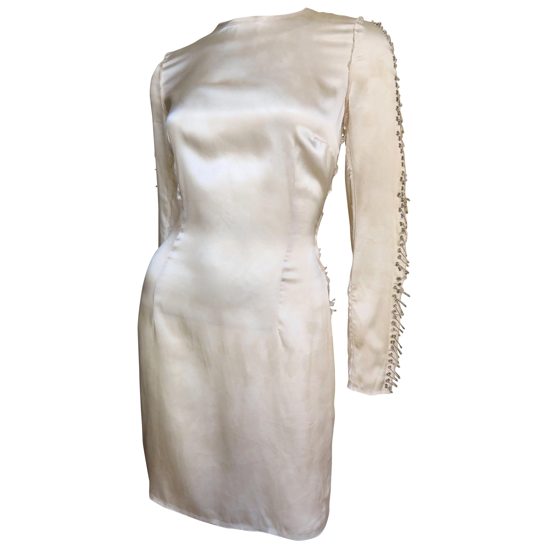 Pierre Balmain Silk Safety Pin Sleeves Dress