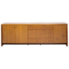 Pierre Balmain Sideboard in Brass and Wood, 1980