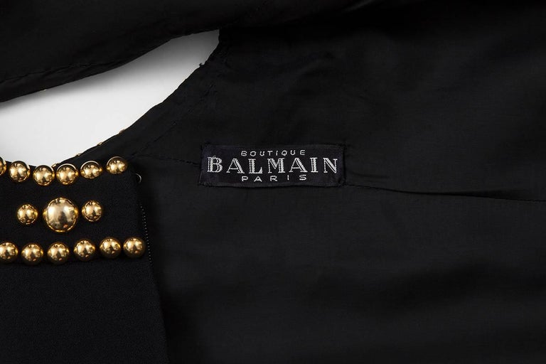 Pierre Balmain Studded Dress For Sale 5
