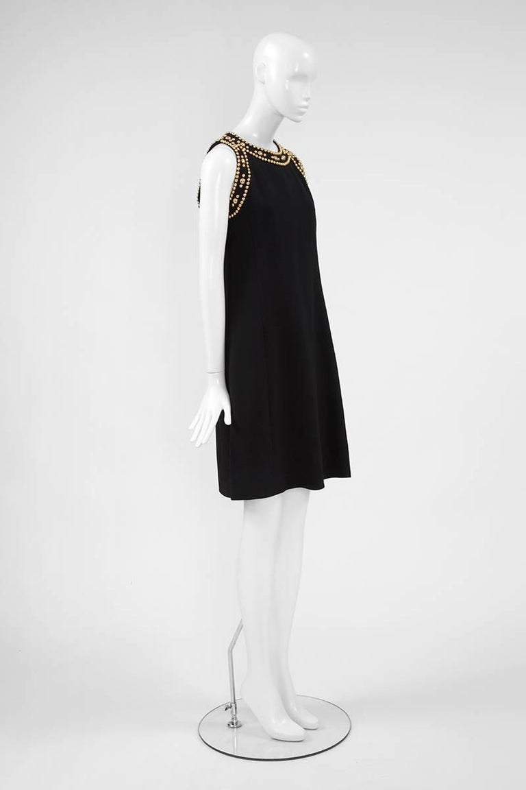 Pierre Balmain Studded Dress In Excellent Condition For Sale In Geneva, CH