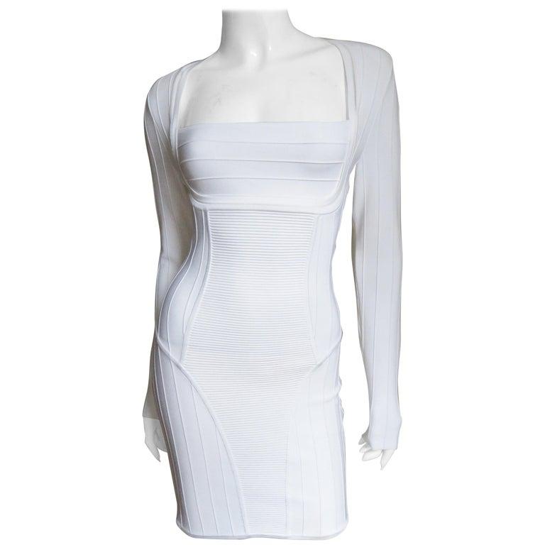 b8f269d1914 Pierre Balmain White Bandage Bodycon Dress For Sale at 1stdibs
