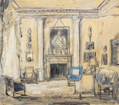 Drawing Room of Evangeline and David Bruce, Albany, Piccadilly, London