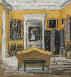Drawing Room of Jasper ConranII, Ven House, Somerset, England