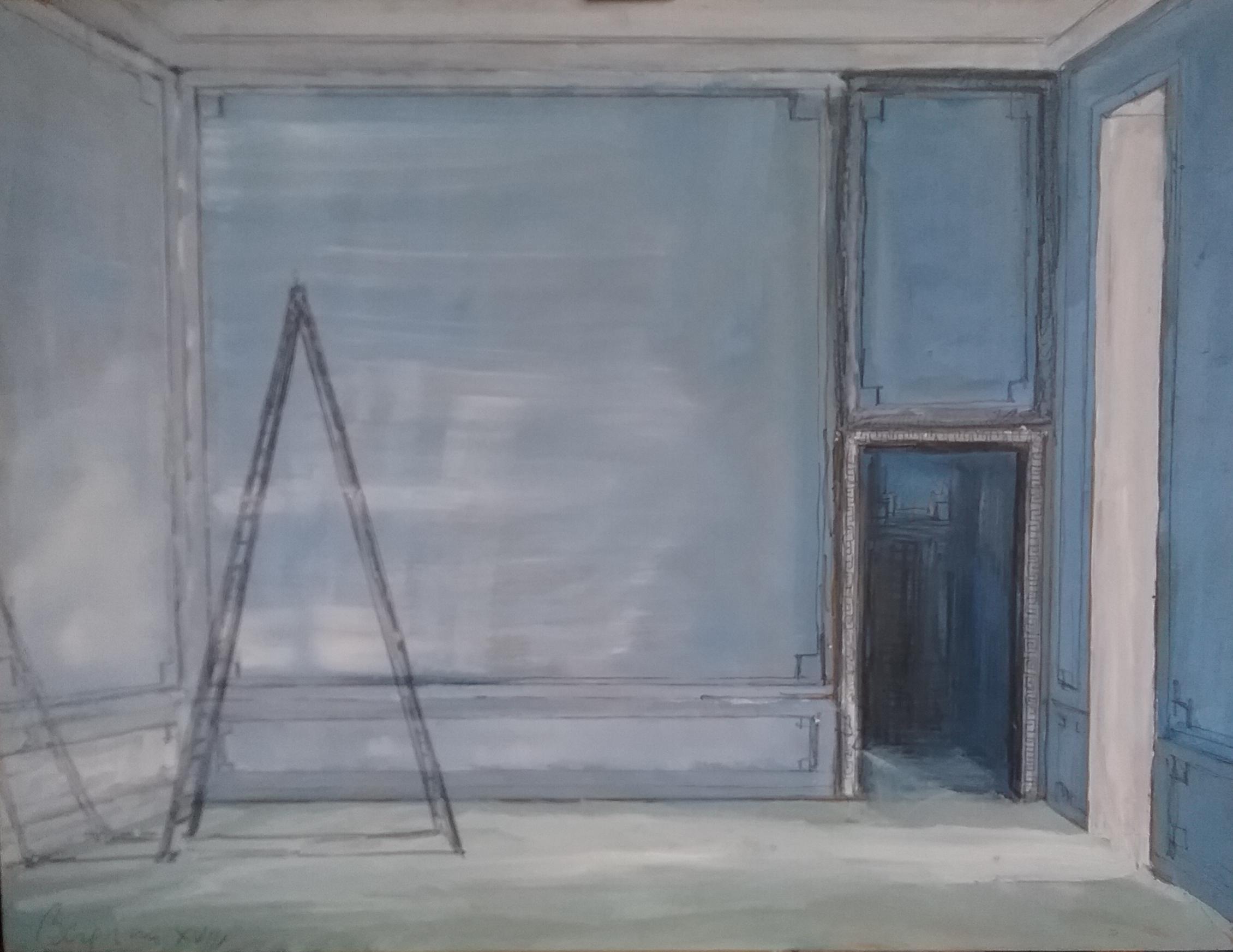 Ladder in Blue Room