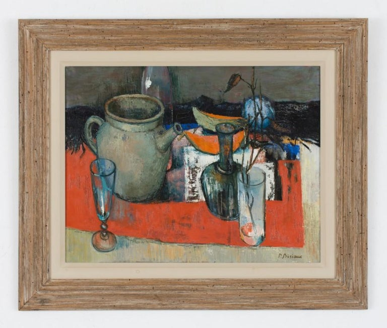 Still Life - Painting by Pierre Bisiaux