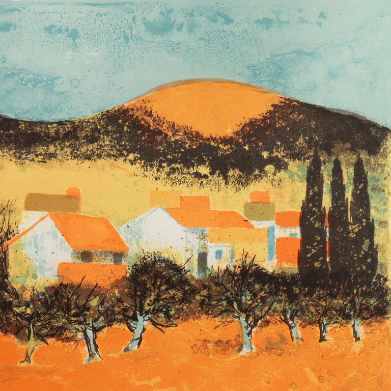 'Sunset over Provence', Paris Salon, Musée d'Art Moderne, Benezit For Sale 1