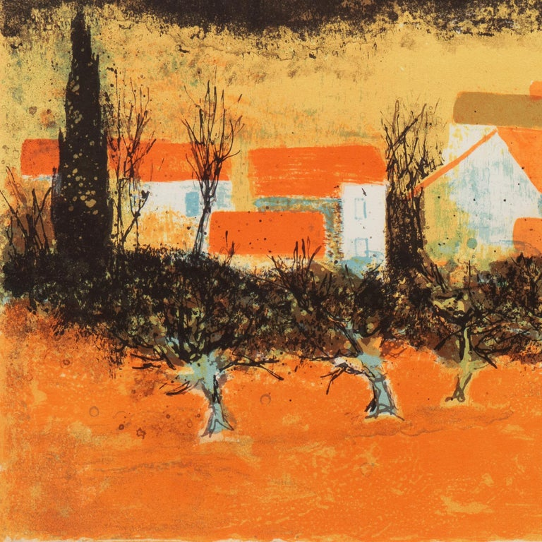 'Sunset over Provence', Paris Salon, Musée d'Art Moderne, Benezit For Sale 2