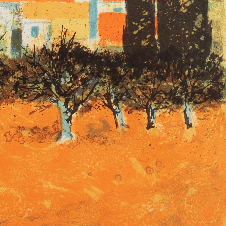 'Sunset over Provence', Paris Salon, Musée d'Art Moderne, Benezit For Sale 4