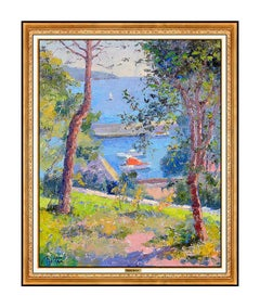 Pierre Bittar Authentic Painting Oil On Canvas Original Signed Seascape Artwork