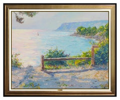 Pierre Bittar Large Original Oil Painting On Canvas Signed French Seascape Art