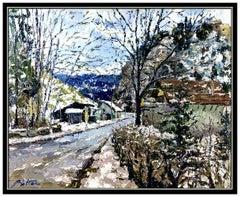 Pierre Bittar Large Original Oil Painting On Canvas Signed Landscape Framed Art