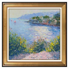 Pierre Bittar Oil Painting On Canvas Original Signed French Seascape Water Art