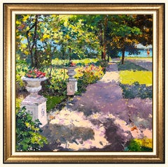 Pierre Bittar Original Oil Painting On Canvas Signed French Landscape Large Art