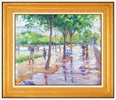 Pierre Bittar Original Painting Oil On Canvas Signed Framed Landscape Artwork