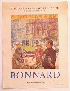 Bonnard- Exhibition Poster - Original Offset Print - 1955
