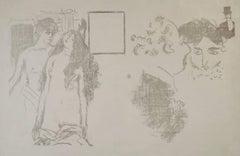 """La Derniere Croisade (CRM39)"" Rare Original Lithograph by Pierre Bonnard"