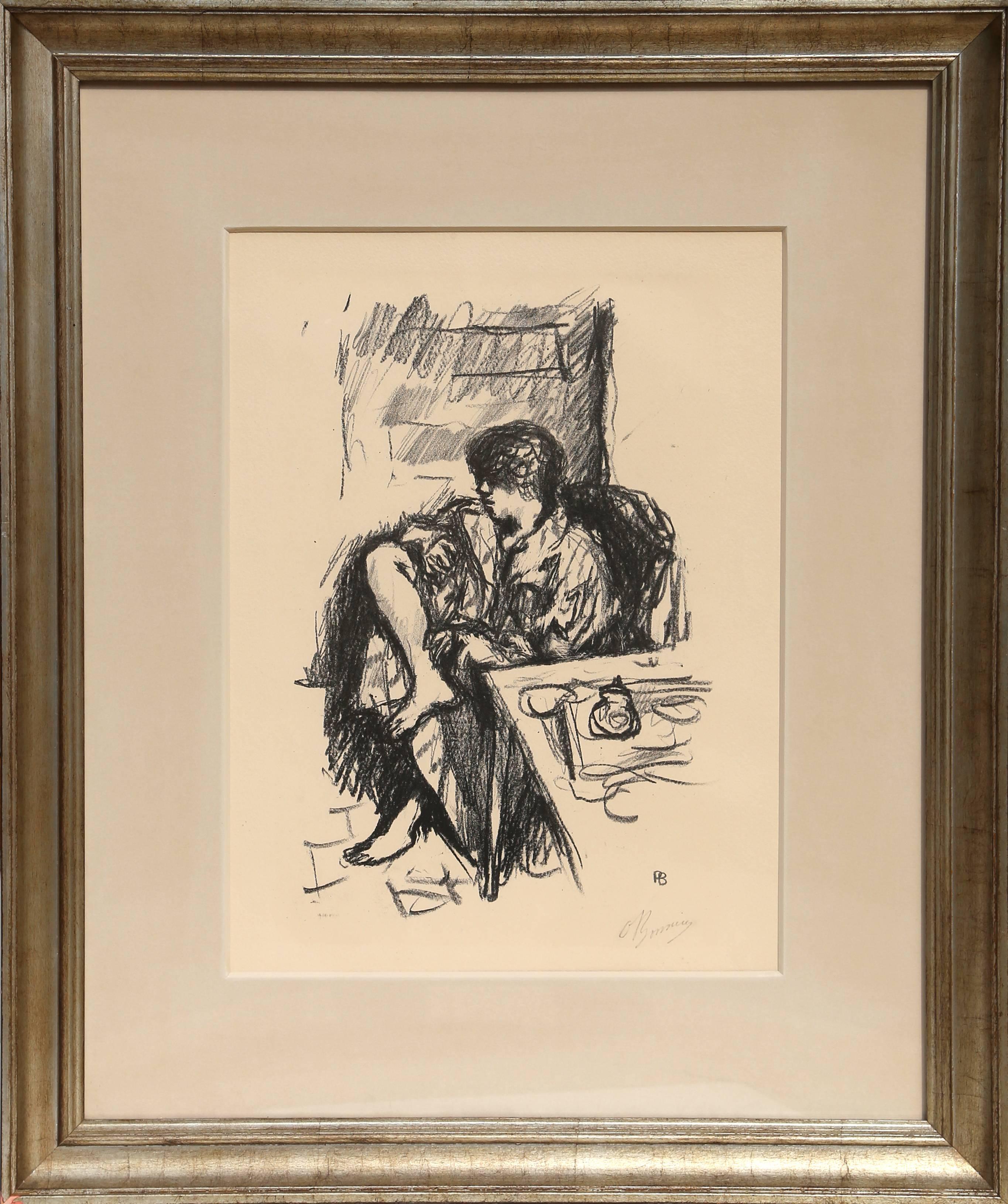 La Toilette Assise, 1925 Lithograph by Pierre Bonnard