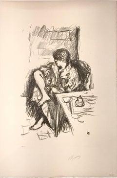 La Toilette Assise - Original Lithograph by Pierre Bonnard - 1925