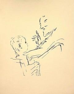 Pierre Bonnard Ltd Ed Lithograph Printed at Mourlot Paris 1958 Father and Son