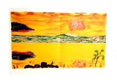 Pierre Bonnard - Sunset on the Mediterranean - Original Lithograph